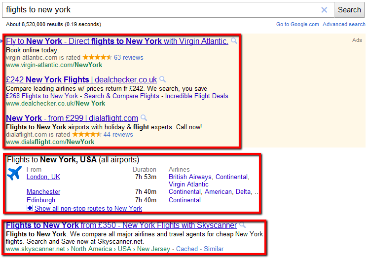 Google adds flight schedules to search results | Stellar Search