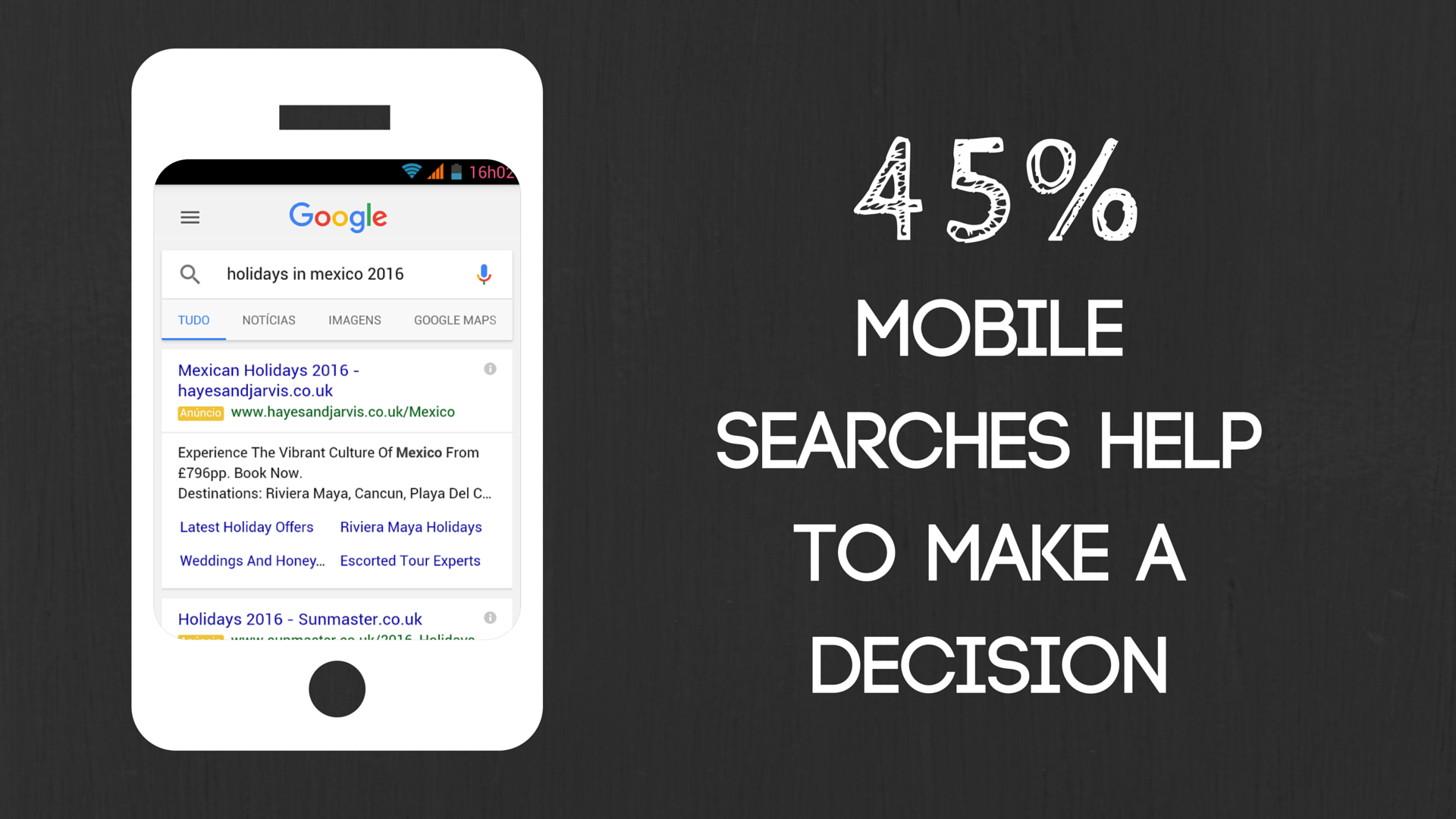 45% of Mobile Searches Help to make a decision